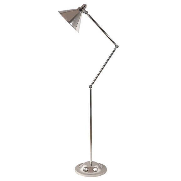 Provence Floor Lamp Polished Nickel