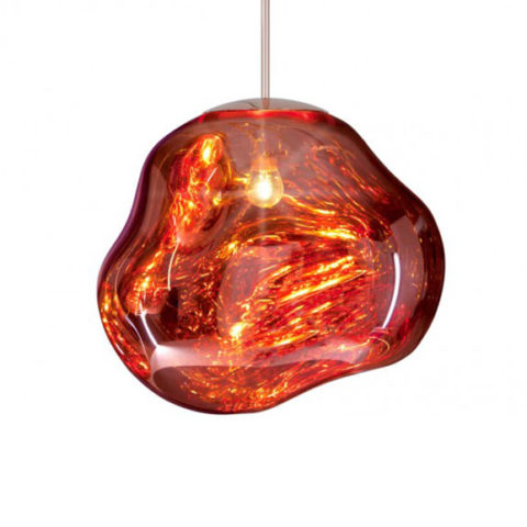 An image of the Tom Dixon Melt Pendant in Copper.