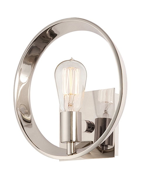 Theater Row Wall Light Silver