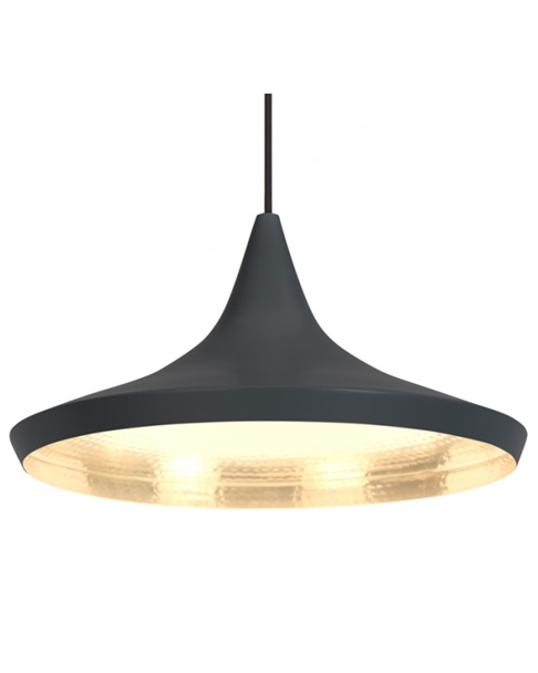 Tom dixon beat wide black pendant