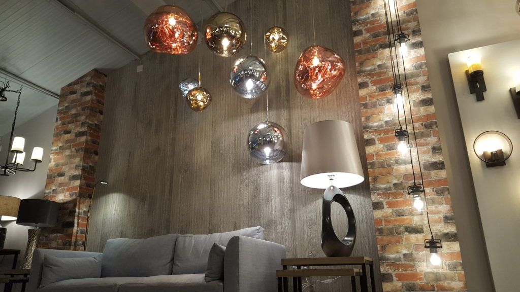 Topsham showroom 2 beautiful affordable spectacular lighting combined with modern furniture has