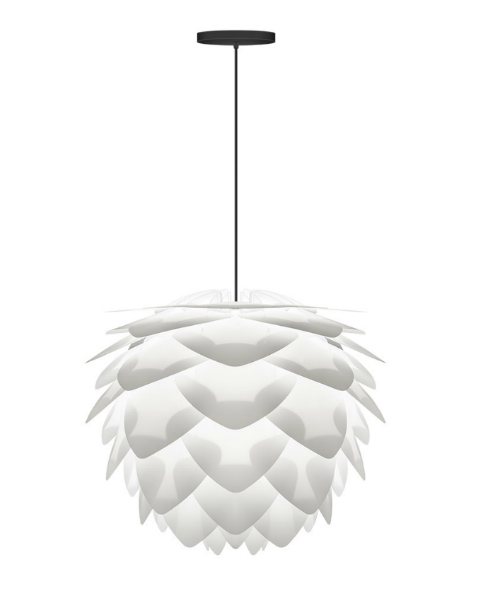 Vita Silvia Medium White Pendant Ceiling Light
