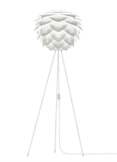 Vita Silvia Tripod Floor Lamp in White