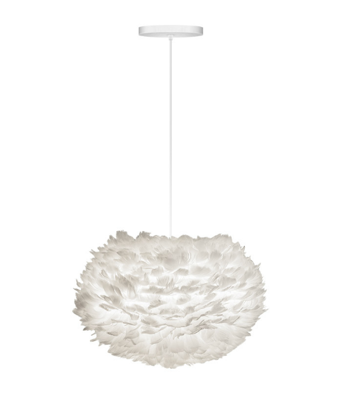 Vita Eos Medium Pendant White Ceiling Light