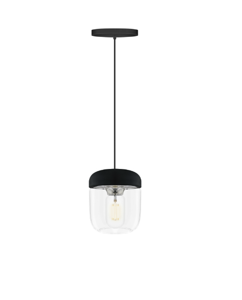 Vita Acorn Pendant Polished Steel Ceiling Light