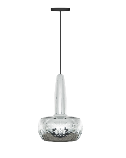 Vita Clava Pendant Polished Steel Ceiling Light