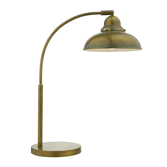 Classic Reader Task Lamp Antique Brass