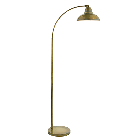 Classic Reader Floor Lamp Antique Brass