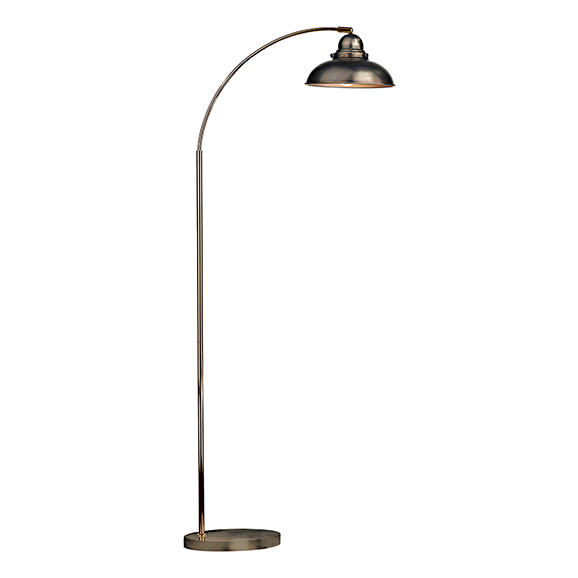 Classic Reader Floor Lamp Chrome Finish