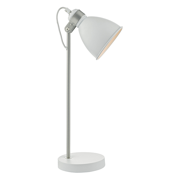 Fred Easy Reading Task Lamp White