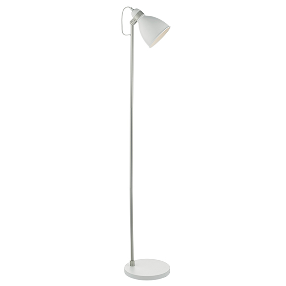 Fred Easy Reading Floor Lamp White