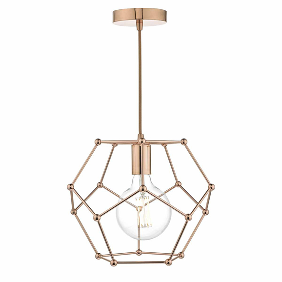 3BANCOE0164 - Dar Coen Single Lamp Copper Pendant