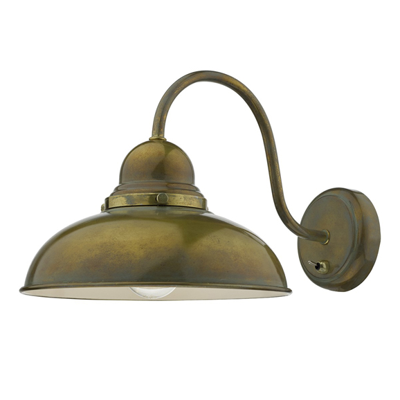 3BANDYN0742 - Dar Dynamo Single Light Weathered Brass Wall Bracket
