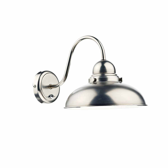 3BANDYN0761 - Dar Dynamo Single Light Antique Chrome Wall Bracket