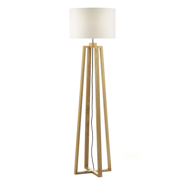 3BANPYR4943 Pyramid Table Lamp And Floor Lamp Twin with Shade