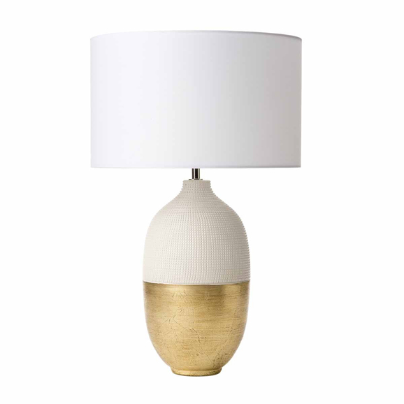 3BANSIY4213 Siya Table Lamp White and Gold