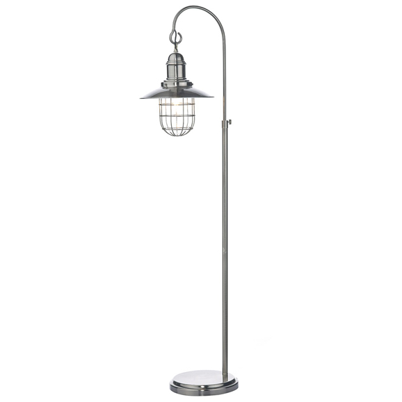 3BANTER4961 Terrace Floor Lamp Antique Chrome