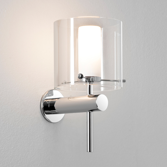 Astro arezzo polished chrome bathroom wall light aloadofball Images