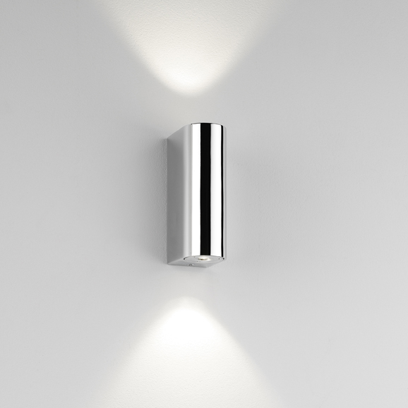 Wall lights outdoor indoor wall lighting amos lighting astro alba polished chrome bathroom wall light aloadofball Image collections