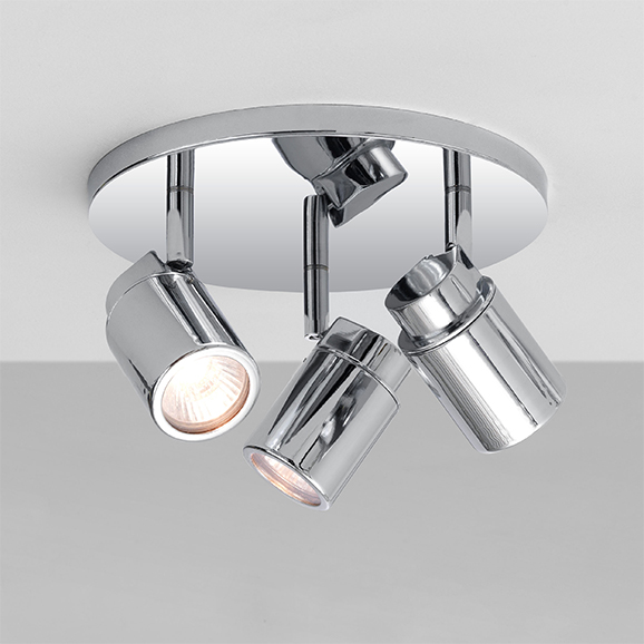 3HAR6107 - Astro Como Triple Round Polished Chrome Bathroom Ceiling Light