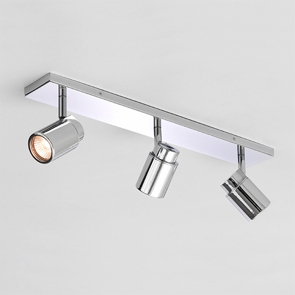 3HAR6109 - Astro Como Triple Bar Polished Chrome Bathroom Ceiling Spotlight