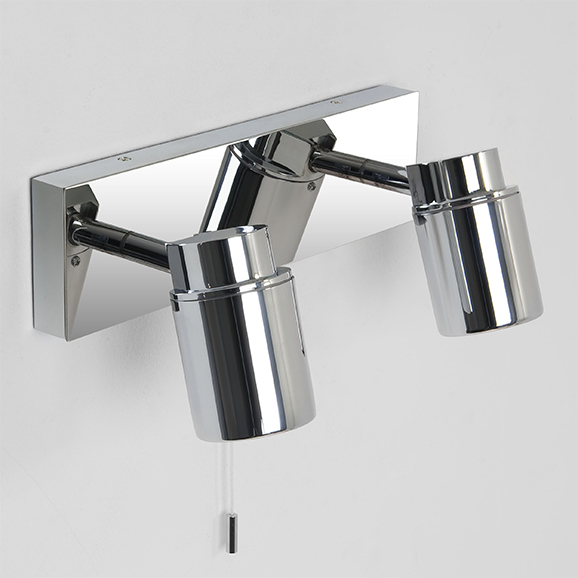 3HAR6121 - Astro Como Twin Polished Chrome Bathroom Spotlight