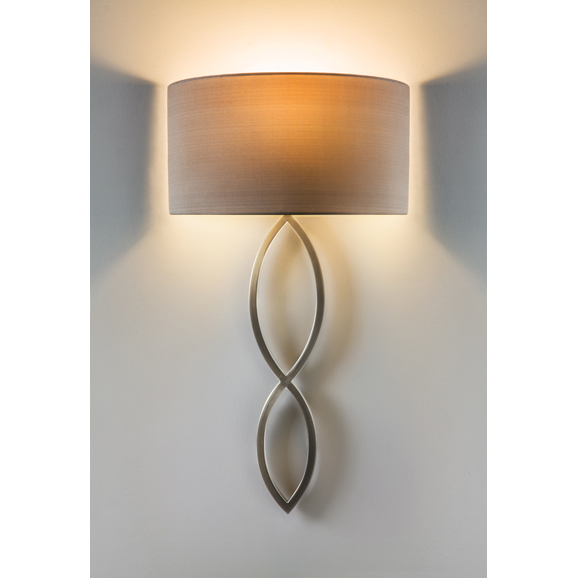 Astro caserta matt nickel wall light