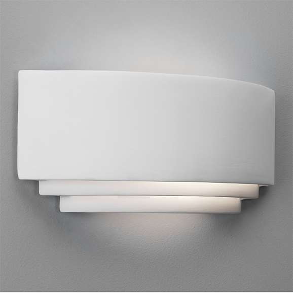 3har0423 astro amalfi ceramic white wall light