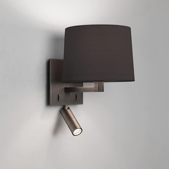 3HAR7466   Astro Azumi Reader Bronze Plated Wall Light