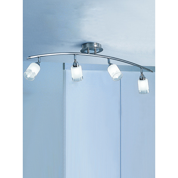 3MILDP40024 - Franklite Campani Chrome and Satin Nickel 4 Light Ceiling Spotlight