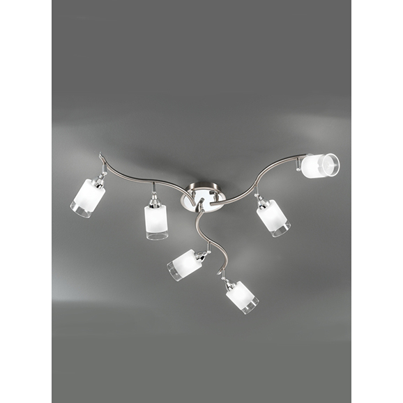 3MILDP40026 - Franklite Campani Chrome and Satin Nickel 6 Light Ceiling Spotlight