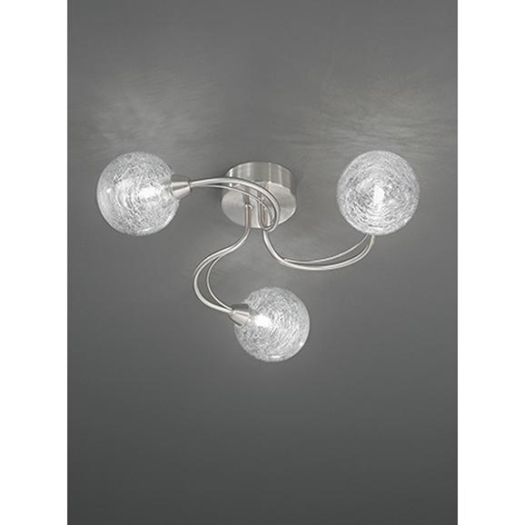 3MILFL23273 - Franklite Gyro 480 Satin Nickel 3 Light Semi Flush Ceiling Fitting