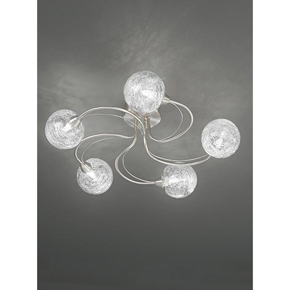 3MILFL23275 - Franklite Gyro 500 Satin Nickel 5 Light Semi Flush Ceiling Fitting