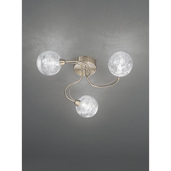 Franklite Gyro 480 Bronze 3 Light Semi Flush Ceiling Fitting