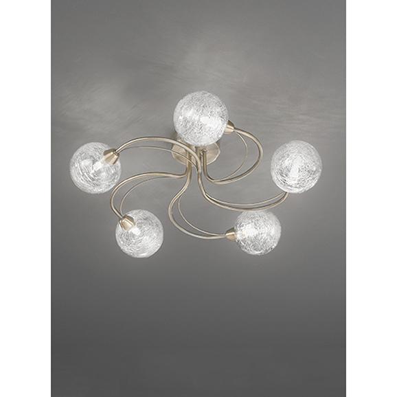 3MILFL23285 - Franklite Gyro 500 Bronze 5 Light Semi Flush Ceiling Fitting