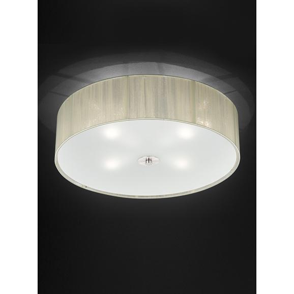 3MILFL23414 - Franklite Desire 500 4 Light Cream Flush Ceiling Fitting