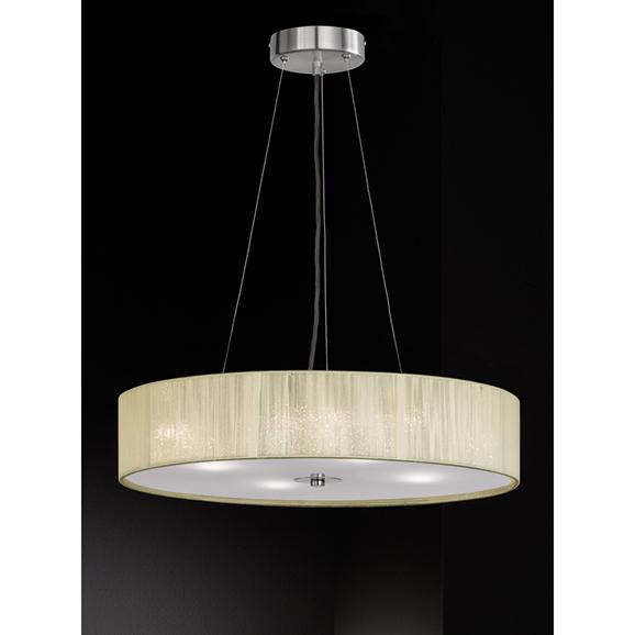 3MILFL23424 - Franklite Desire 500 4 Light Cream Pendant