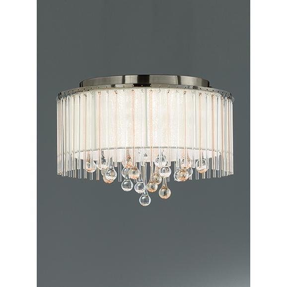 3MILFL23456 - Franklite Ambience 400 Bronze 6 Light Semi Flush Ceiling Fitting