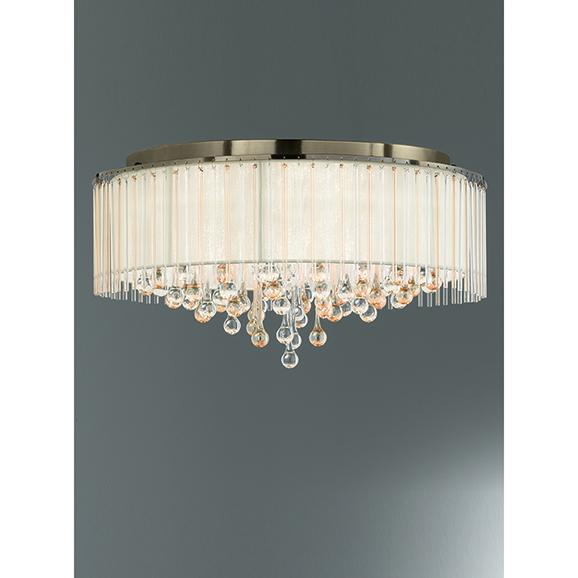 3MILFL23458 - Franklite Ambience 600 Bronze 8 Light Semi Flush Ceiling Fitting
