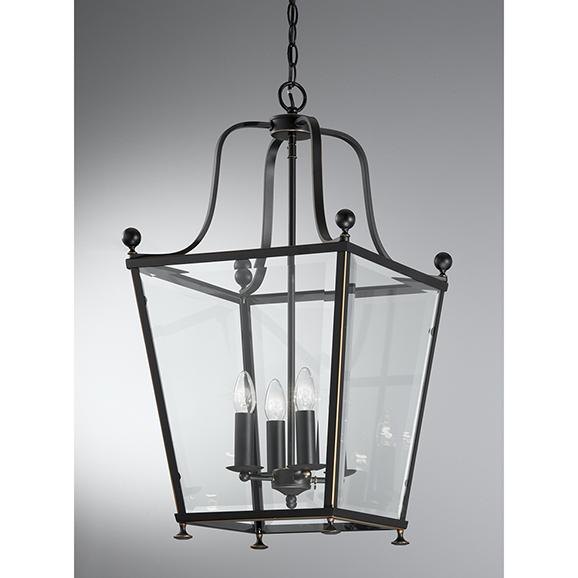 3MILLA70054 - Franklite Atrio Antique Bronze 4 Light Lantern