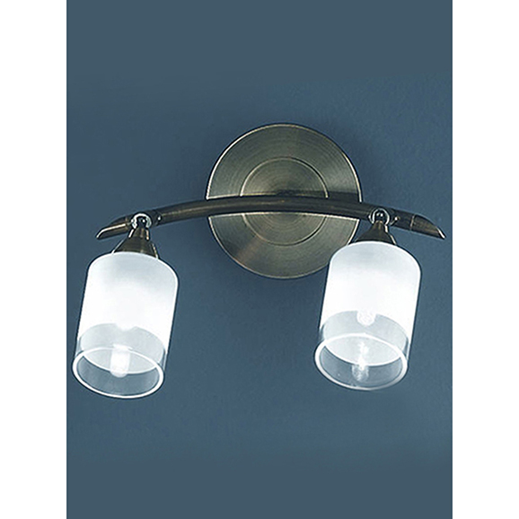 3MILSPOT8772 - Franklite Campani Bronze 2 Light Wall Spotlight