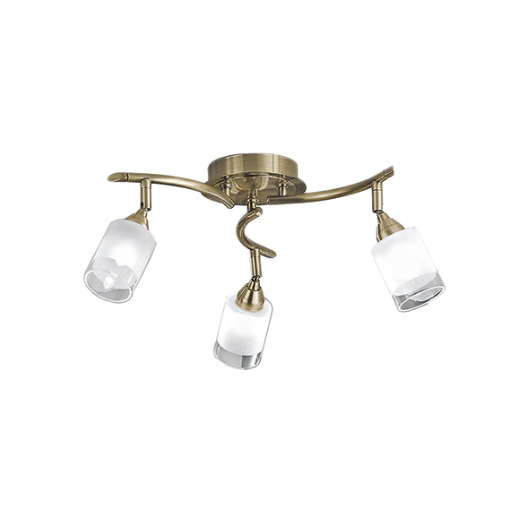 3MILSPOT8773 - Franklite Campani Bronze 3 Light Ceiling Spotlight