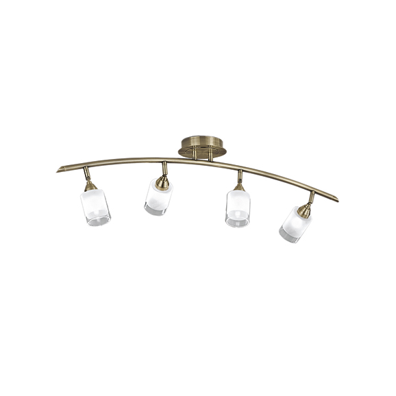 3MILSPOT8774 - Franklite Campani Bronze 4 Light Ceiling Spotlight