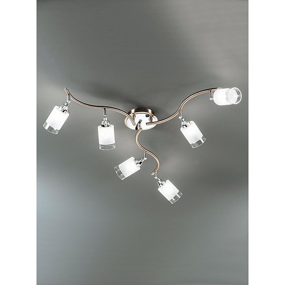 3MILSPOT8776 - Franklite Campani Bronze 6 Light Ceiling Spotlight