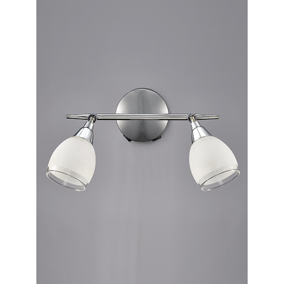 3MILSPOT8962 - Franklite Lutina Chrome 2 Light Wall Spotlight