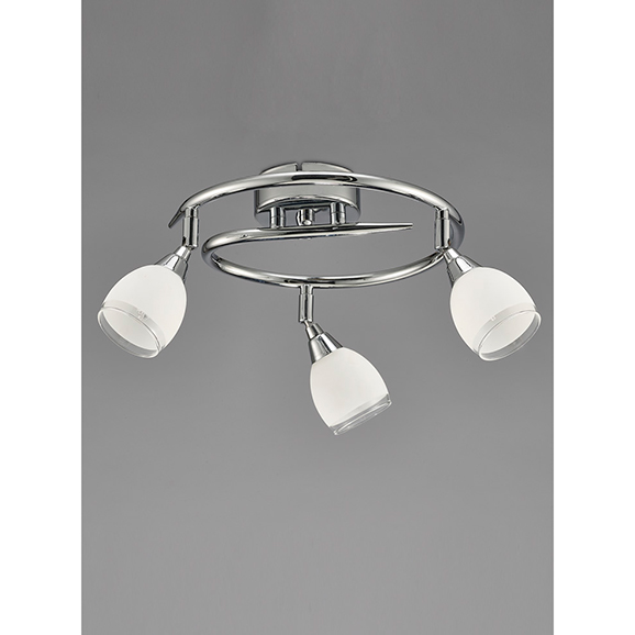 3MILSPOT8963 - Franklite Lutina Chrome 3 Light Ceiling Spotlight