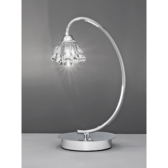3miltl973 franklite twista chrome 1 light table lamp