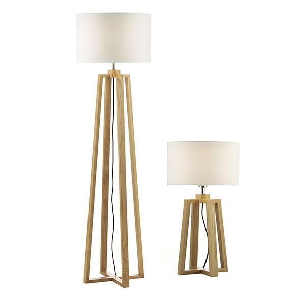 3BANPYR4943 - Dar Pyramid Table Lamp And Floor Lamp including Shades