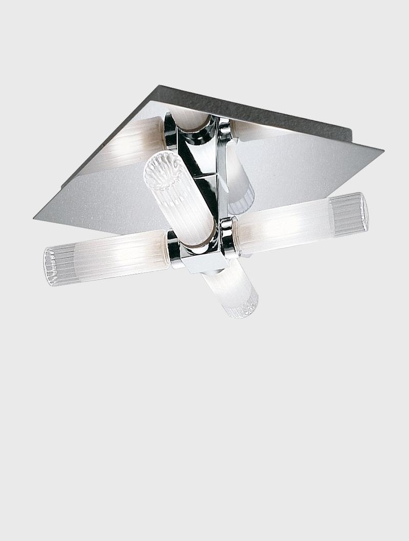 Bathroom 4 light chrome ceiling light