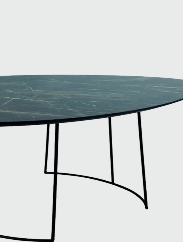 Agoston Dark Marble Coffee Table Amos Lighting Home